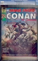 Savage Sword of Conan #1 CGC 8.5 ow/w