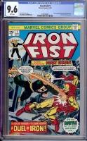 Iron Fist #1 CGC 9.6 w