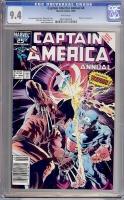 Captain America Annual #8 CGC 9.4 w