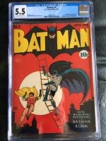 Batman #4 CGC 5.5 ow/w