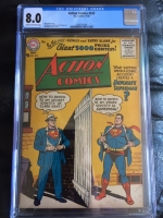 Action Comics #222 CGC 8.0 cr/ow