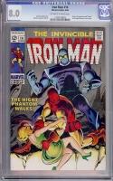 Iron Man #14 CGC 8.0 ow/w