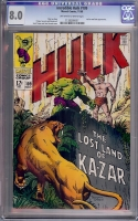Incredible Hulk #109 CGC 8.0 ow/w