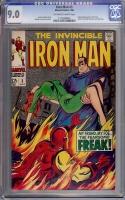 Iron Man #3 CGC 9.0 ow/w