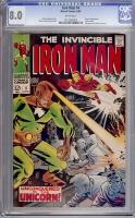 Iron Man #4 CGC 8.0 w