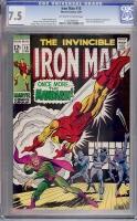 Iron Man #10 CGC 7.5 ow/w
