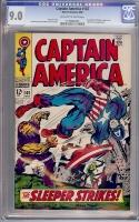 Captain America #102 CGC 9.0 ow/w