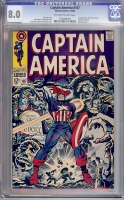 Captain America #107 CGC 8.0 ow/w