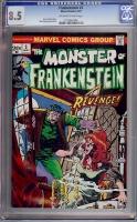 Frankenstein #3 CGC 8.5 ow/w