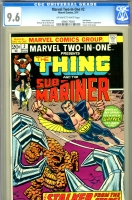 Marvel Two-In-One #2 CGC 9.6 ow/w