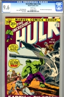 Incredible Hulk #146 CGC 9.6 w