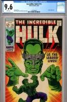 Incredible Hulk #115 CGC 9.6 w