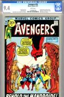 Avengers #94 CGC 9.4 w