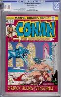 Conan The Barbarian #20 CGC 8.0 w