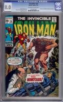 Iron Man #24 CGC 8.0 ow/w