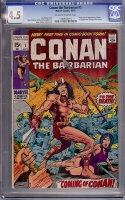 Conan The Barbarian #1 CGC 4.5 ow/w