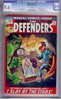 Defenders #1 CGC 9.6 w