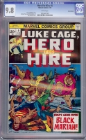 Hero For Hire #5 CGC 9.8 w Suscha News