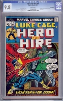Hero For Hire #9 CGC 9.8 w Suscha News