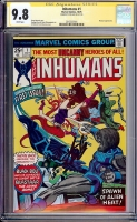 Inhumans #1 CGC 9.8 w CGC Signature SERIES