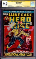 Hero For Hire #1 CGC 9.2 w CGC Signature SERIES