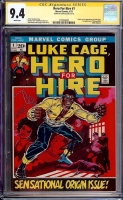 Hero For Hire #1 CGC 9.4 w CGC Signature SERIES