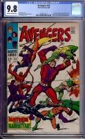 Avengers #55 CGC 9.8 ow/w