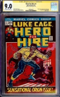 Hero For Hire #1 CGC 9.0 ow/w CGC Signature SERIES