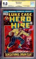 Hero For Hire #1 CGC 9.0 ow/w CGC Signature SERIES