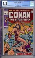 Conan The Barbarian #1 CGC 9.2 ow/w