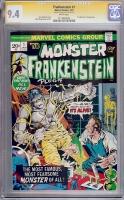 Frankenstein #1 CGC 9.4 w CGC Signature SERIES