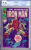 Iron Man #1 CGC 7.5 ow/w