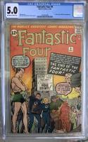 Fantastic Four #9 CGC 5.0 ow/w