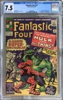 Fantastic Four #25 CGC 7.5 cr/ow
