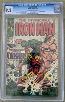 Iron Man #6 CGC 9.2 ow/w