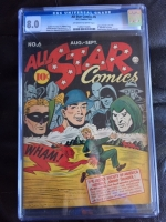 All Star Comics #6 CGC 8.0 ow/w