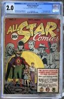 All Star Comics #7 CGC 2.0 cr/ow
