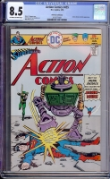 Action Comics #455 CGC 8.5 ow/w Don Rosa Collection