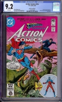 Action Comics #516 CGC 9.2 w Don Rosa Collection