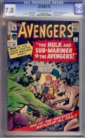 Avengers #3 CGC 7.0 cr/ow