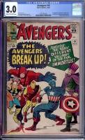 Avengers #10 CGC 3.0 cr/ow