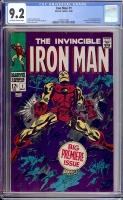 Iron Man #1 CGC 9.2 ow/w