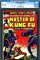 Master of Kung Fu #21 CGC 9.6 w