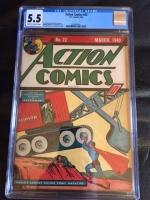 Action Comics #22 CGC 5.5 cr/ow