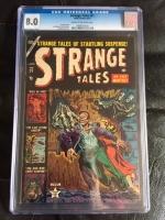 Strange Tales #21 CGC 8.0 cr/ow