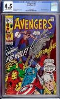 Avengers #80 CGC 4.5 ow/w