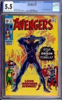 Avengers #87 CGC 5.5 ow/w