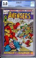 Avengers #95 CGC 3.0 ow/w