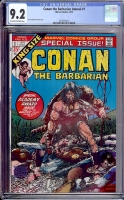 Conan the Barbarian Annual #1 CGC 9.2 ow/w