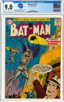 Batman #111 CGC 9.0 cr/ow Alfred Pennyworth Collection